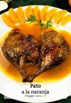 Receta de Karlos Arguiñano de pato a la naranja con verduras. Poultry, Salsa, Steak, Beef, Chicken, Kitchen, Recipes, Food, Gourmet Foods