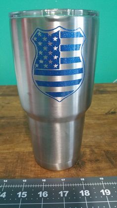Supporting The Blue. Custom Tumblers, Custom Decals, Decal Tumblers, Cooler Tumblers. Ozark Trail.