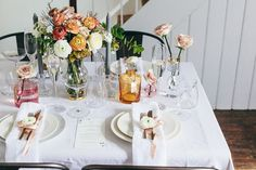 Runaway Romance | Wedding Ideas | Wedding Inspiration | Wedding Decor | Tablescapes | Blush Colour scheme | Pink & Peach | Waterford |  http://www.rockmywedding.co.uk/tablescape-trends/