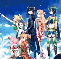 abec illustration for the upcoming new game: SAO Hollow Realization..so pumped!!
