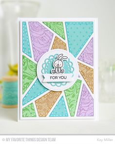 Adventure Is Calling stamp set and Die-namics, Abstract Cover- Up Die-namics, Zig Zag Stitched Circle STAX Die-namics - Kay Miller #mftstamps