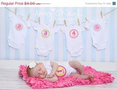 FALL SALE Baby Photo Prop Monthly Onesie Stickers. Cute idea!
