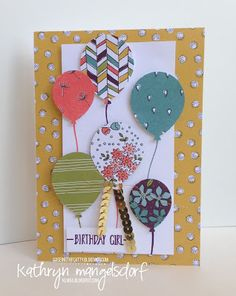 Kathryn's Stampin' World: CASE-ing the Catty Sale-A-Bration Wildflower Fields Designer Series Paper - #CTC68