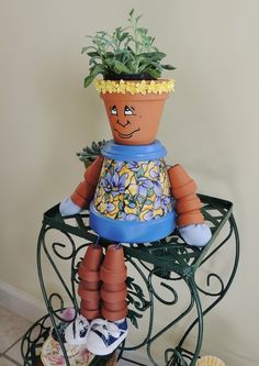 How to make a Clay Pot Doll