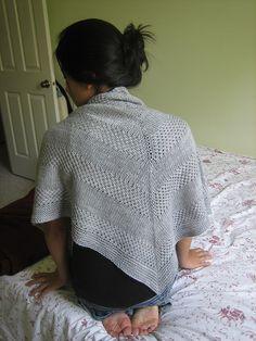 FREE Pattern Textured Sshawl Recipe by orlane. Malabrigo Silky Merino, Cape Code Gray.
