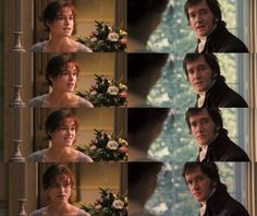 """I'm no longer surprised at your knowing only six accomplished women. I wonder at you knowing any."" (Lizzie) ""Are you so severe on your own sex?"" (Mr. Darcy) ""I never saw such a woman. She would certainly be a fearsome thing to behold."" (Lizzie)"