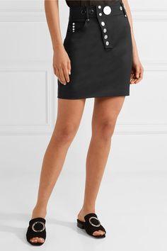Alexander Wang - Studded Wool-blend Mini Skirt - Black