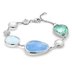 TI SENTO MILANO - Sterling Silver Multi-stone Colored CZ Bracelet
