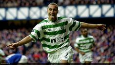 Ahh Henrik Larsson. A Celtic legend and football fans favourite. Great goal scoring record for Celtic, moved on to Barcelona and even played 7 games for United on loan from Swedish club Helsingborgs IF.