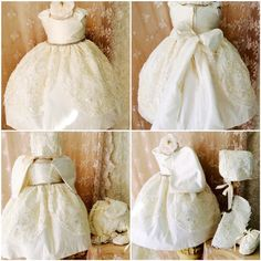 Christening couture baby girl dress  by ElenaCollectionUSA on Etsy