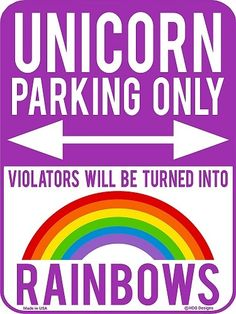 Unicorn Parking Only Sign Room decor for teens. Unicorn gifts. Gifts for unicorn lovers.