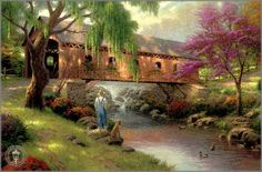 Old Fishin' Hole ~ Thomas Kinkade