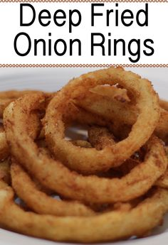 Onion rings are really yummy a great substitute for french fries, or you could do a half french fry half onion ring plate! This recipe is really easy to make, if I can do it, you can do it.