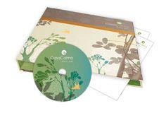 Casa Calma Wellness Hotel. Carpeta de presenación con CD. Diseñado por Bunker3022.