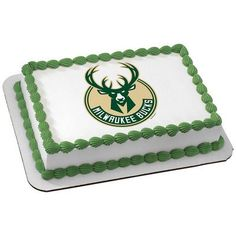 Milwaukee Bucks NBA Edible Cake Topper | My Party Helpers | http://mypartyhelpers.com/products/milwaukee-bucks-nba-edible-cake-topper