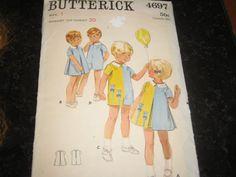 Butterick 4697 vintage childs pattern by aletalester on Etsy, $6.00
