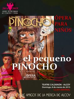 Pinocho este domingo 8 de marzo en #Alcoy