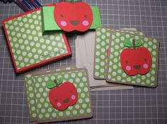Cards made for a teacher gift