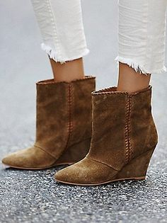 Charles by Charles David Up All Night Wedge Boot at Free People Clothing Boutique