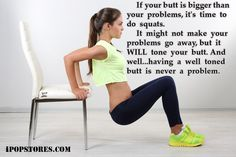 If  your  butt is bigger than your problems, it's time to do squats.     It  might  not  make  your    problems  go  away,  but  it WILL  tone  your  butt. And  well...having  a  well toned butt is never a problem. #sportswear #sportinggoods #sports #gymwear #gymclothes #gymclothing #gymwomen #gymlife #gymaddict #gymaddiction #workout #workoutoutfit #fit #fitness #fitnessmotivation #clothing #clothes #gymoutfits #health #healthy #healthyliving #healthylifestyle #activewear #excercise…