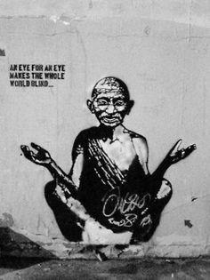 Gandhi #graffiti #art