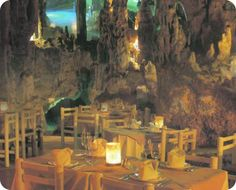 The coolest restaurant I've ever visited... Alux, Playa del Carmen. In a dry cenote underground!
