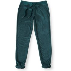 Aeropostale Velour Cinch Sweatpants (925 RUB) ❤ liked on Polyvore featuring activewear, activewear pants, clover green, long sweat pants, aéropostale, blue sweat pants, aeropostale sweatpants and drawstring sweat pants