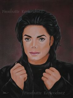 Michael Jackson - Nights in Moscow - absolutes Unikat, Acryl Bild Portrait