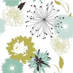 Retro Floral Seamless Background by Alisa Foytik (Alice)