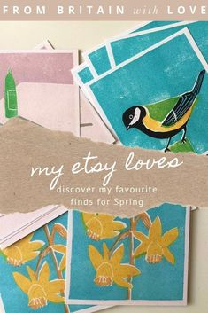 discover my favourite etsy finds for spring and easter - from exquisite hand printed cards and artwork, handmade felt or paper flowers to hand-printed cards, vintage spring flower fabric, the most adorable duckling to crochet, antique glass bottles perfect for seasonal blooms and more #etsy #spring #easter #spring #handmadegifts #cards Handmade Felt, Handmade Bags, Felt Flowers, Paper Flowers, Beauty Products Gifts, Antique Glass Bottles, Sustainable Textiles, Flower Fabric, Natural Candles