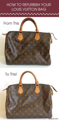 This complete Louis Vuitton refurbishment guide does wonders! If you have Louis Vuitton, this tutorial is a must read. :) : This complete Louis Vuitton refurbishment guide does wonders! If you have Louis Vuitton, this tutorial is a must read. Louis Vuitton Purses, Louis Vuitton Artsy, Vintage Louis Vuitton, Mochila Louis Vuitton, Louis Vuitton Handbags 2017, Sac Speedy Louis Vuitton, Lv Handbags, Authentic Louis Vuitton Bags, Zapatillas Louis Vuitton