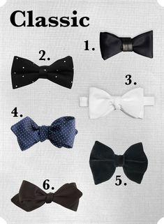 Wedding Bow Ties: classic-bow-ties via A Practical Wedding (http://apracticalwedding.com/2013/04/roundup-wedding-bow-ties/)