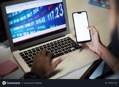 Free Hand of trader holding mobile phone and laptop showing stock market data Photo Stock Market Data, Marketing Data, Business Photos, Hold On, Laptop, Phone, Free, Telephone, Naruto Sad