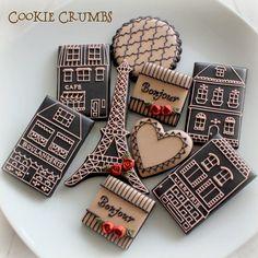 paris themed cookies by mint_lemonade, via Flickr