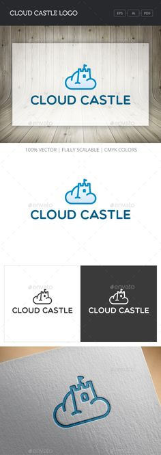 Cloud Castle Logo by mir_design Whats inside:AI (v12), EPS (v10) files - 100 vector, fully editable PDF files - preview Read_me file Note: Fonts used (free licen