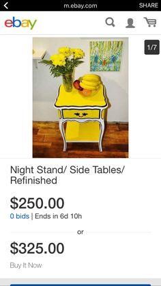 Bid or Buy Now- my latest > http://m.ebay.com/itm/291890833630?_mwBanner=1  #nightstand #sidetable #readingnook #receptionarea #entryway #handmade #refurbished