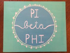 Pi Beta Phi Fraternity Canvas Perfect for Big/Little reveal, decorating your room, and showing your Kay Dee pride! Any Sorority/MGC is possible, just write your sororitys name in the Note to Seller section at checkout! Hand Painted and made to order, please allow two to three days for me to paint it. If you wish for any specific paint color scheme, please say so in the Note to Seller section at checkout. I have almost every color from CraftSmart so I can do anything! If you would like me...