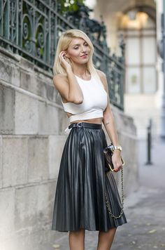 Looks - How to leather wear skirt pinterest video