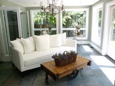 Since spring weather is just around the corner, my Tuesday Inspiration is porches and sunrooms. Imagine sitting out on the front porch on t...