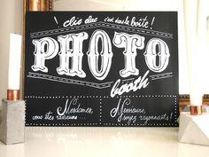 Pancarte PHOTOBOOTH pour vos grands jours! : Décorations murales par sijavaisunpinceau