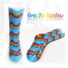 Sock pattern Over the rainbow by Biscotte Yarns - FREE for a LIMITED TIME only : 5$ after March 28th !