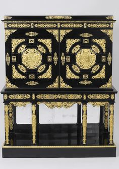After Antonio Tempesta Cabinet Wood veneered with ebony; with cast gilt brass mount Antique Furniture, Furniture Decor, The Royal Collection, Wood Veneer, Valance Curtains, Sweet Home, It Cast, Explore, Antiques