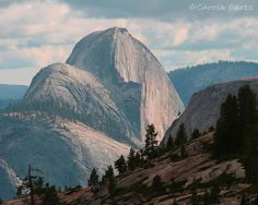 Yosemite Photograph of Half Dome before Sunset 8x10 by CarolaBartz, $20.00