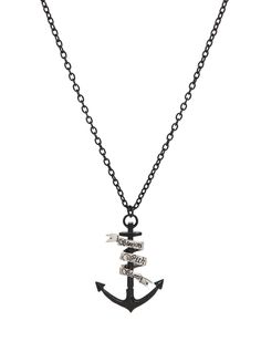 Sleeping With Sirens Anchor Necklace | Hot Topic