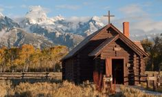 I visited this quaint chapel in 1976 and have a near identical photograph.  Grand Tetons, Wyoming, Chapel of the Transfiguration