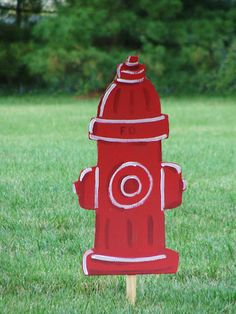 Firefighter Birthday decor @ mk inspired :)     (fire hydrant)