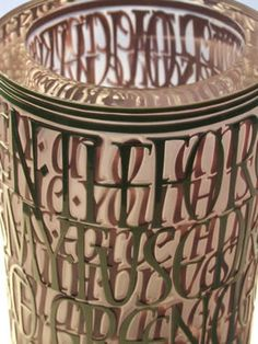 Glass Engraving, Calligraphy Letters, Carving, Home Decor, Decoration Home, Room Decor, Wood Carvings, Sculptures, Printmaking