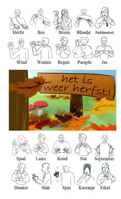 Herfst woordenwolk Educational Activities, Activities For Kids, Hearing Impaired, Baby Sign Language, All Languages, Speech Therapy, Parenting, Signs, Learning