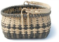 Traditional Ozark Swing Handle Basket made of white oak