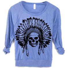 Womens Boho Indian Skull Headdress Desert Southwest Bull Sweater... (120 BRL) ❤ liked on Polyvore featuring tops, hoodies, sweatshirts, light purple, women's clothing, long sleeve pullover, snug top, indian tops, long sleeve sweatshirt and boho tops